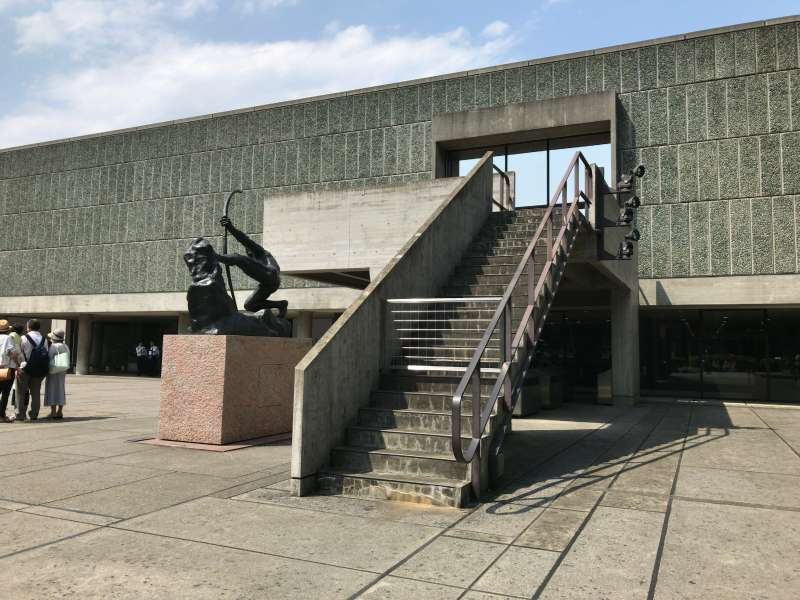 The National Museum of Western Art designed by a notable French architect Le Corbusier