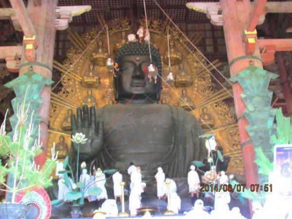 Giant Buddha Statue Cleaned in Nara  Watch a Video !!