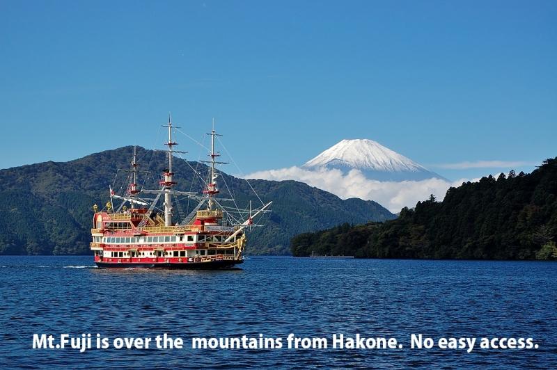 No easy access between Mt.Fuji and Hakone