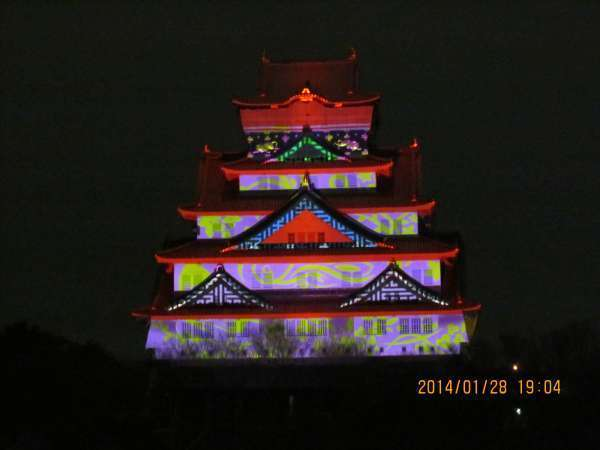 Osaka Castle 3D Mapping  (with videos)