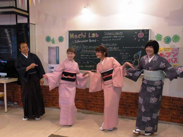 The northernmost Japanese Kimono walking trial tour with overseas students