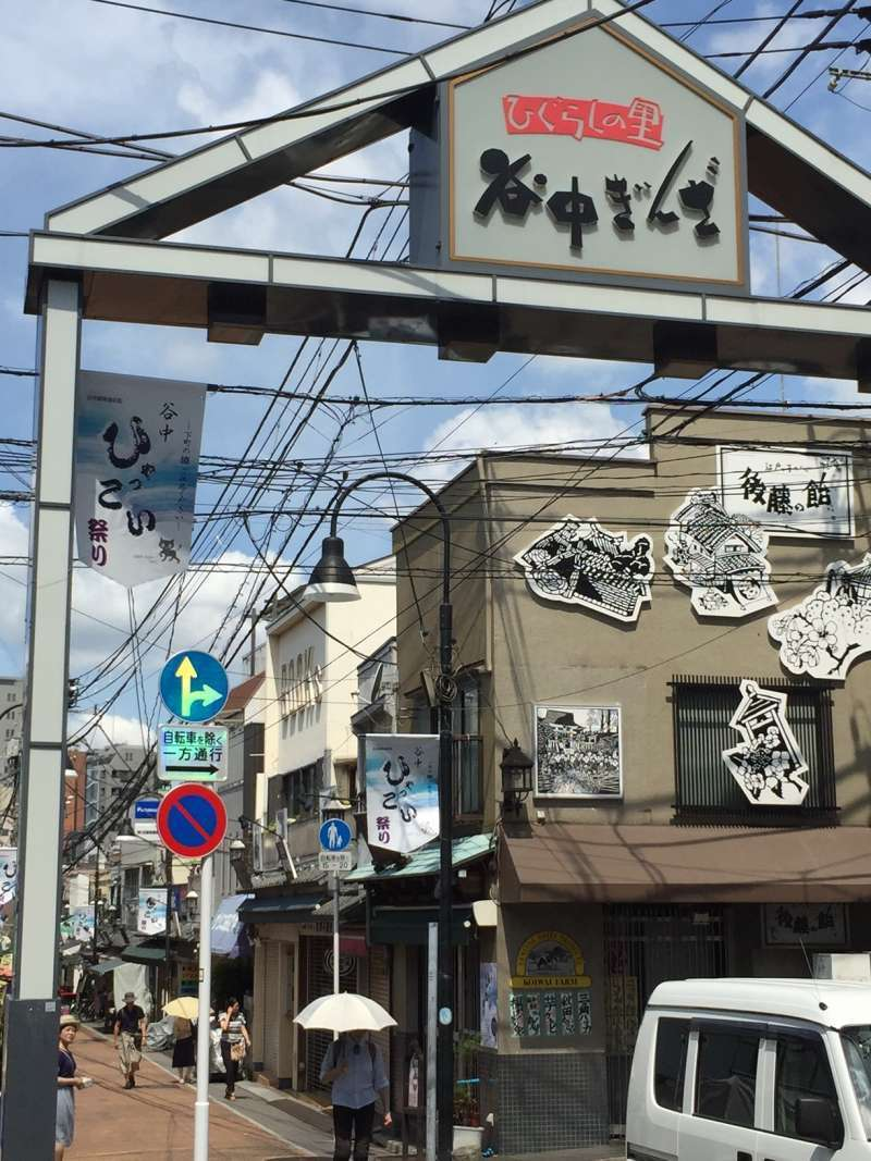There is also an unique local shopping street.(Yanaka Ginza)