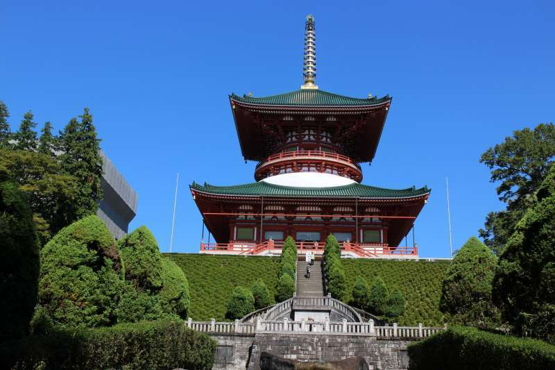 Great Pagoda of Peace, completed in 1984.  58 m high. This pagoda symbolizes the teaching of Shingon Buddhism.