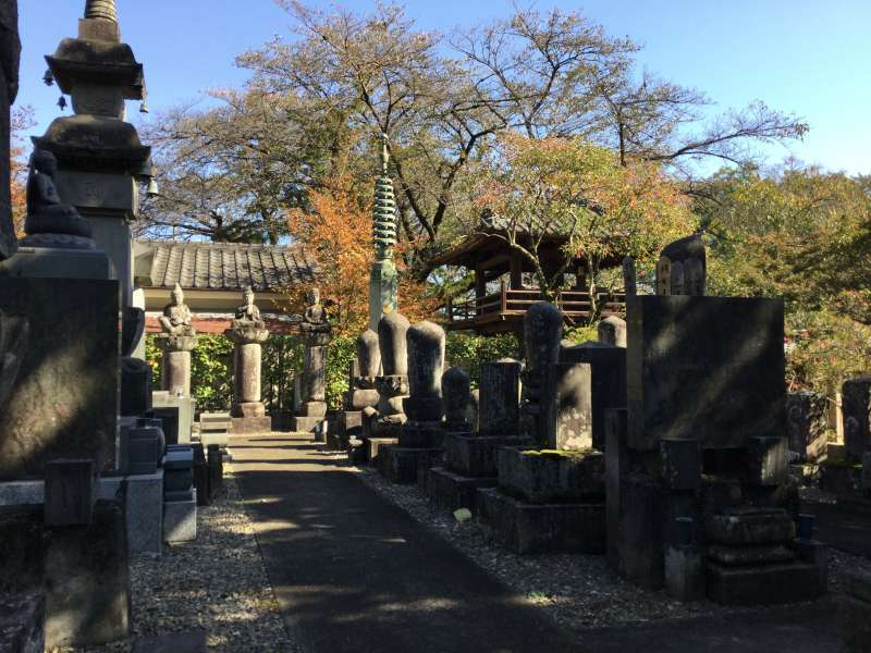 Gravestone of the great priests in Naka-In temple