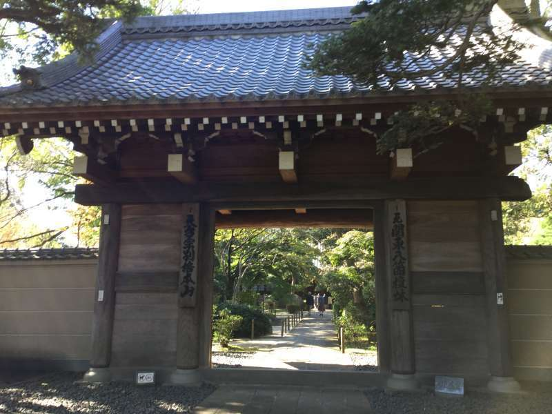 The main gate of Naka-In temple
