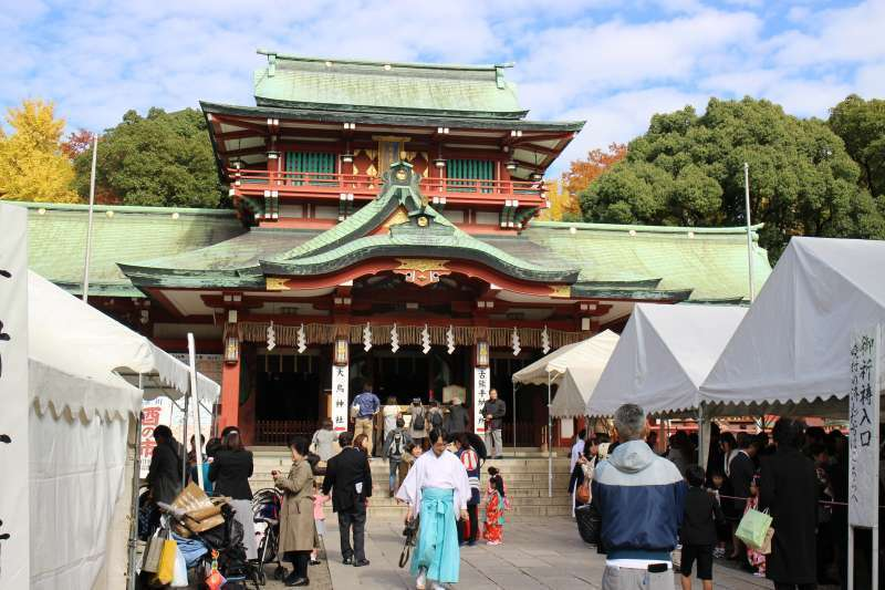 Tomioka Hachimangu Shrine.