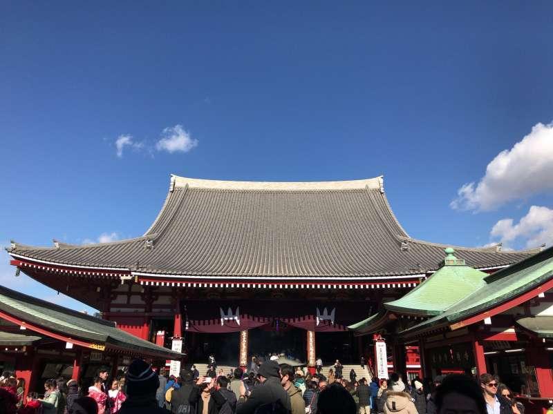 The Main Hall of Sensoji Temple in Asakusa area