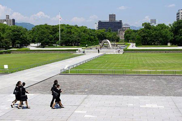 The location of Hiroshima Peace Memorial Park was once the city's busiest downtown commercial and residential district. The park was built on an open field that was created by the explosion. Today there are a number of memorials and monuments, museums, and lecture halls, which draw over a million visitors annually.