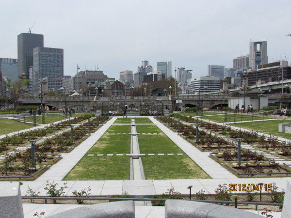 rose garden in Nakanoshima