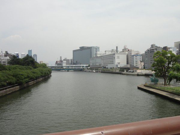 Tenmabshi bridge seen from Tenjinbashi bridge