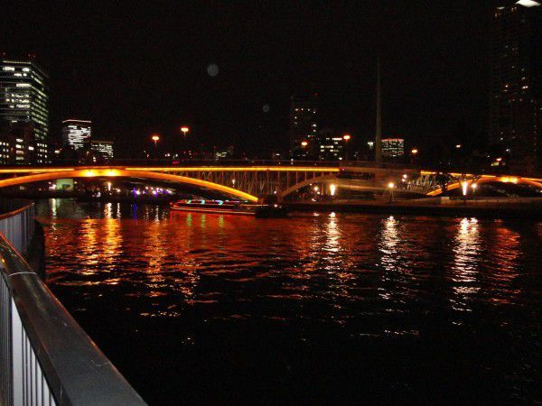 Tenjinbashi bridge at night