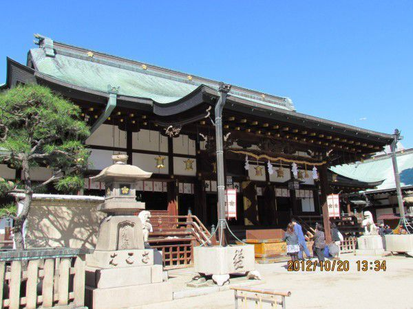 The main hall in Osaka Tenmangu Shrine