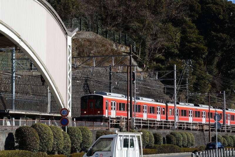 ordinary train in Hakoneyumoto