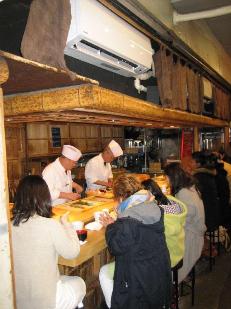 Sushi restaurant at Tsukiji