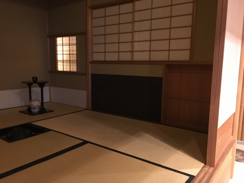 The inside of the tea room. You will be served Maccha green tea and Japanese confection by a tea muster in English guidance.