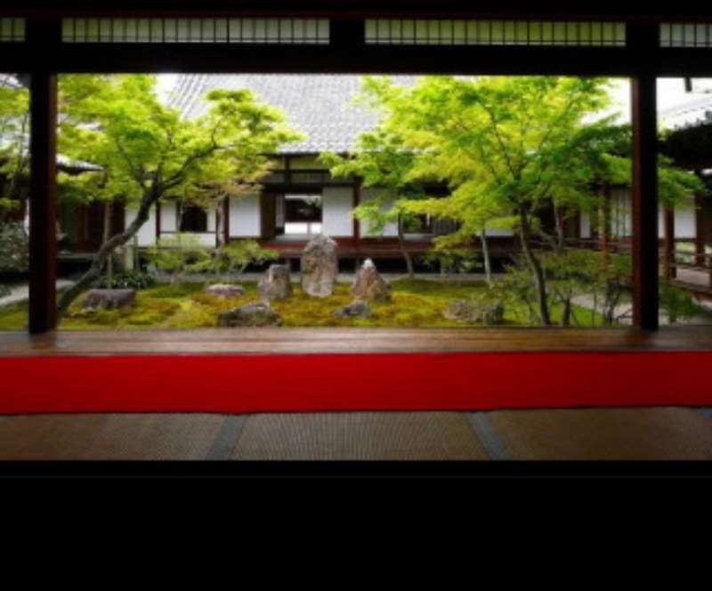 There are some Japanese gardens in Kenninji temple.