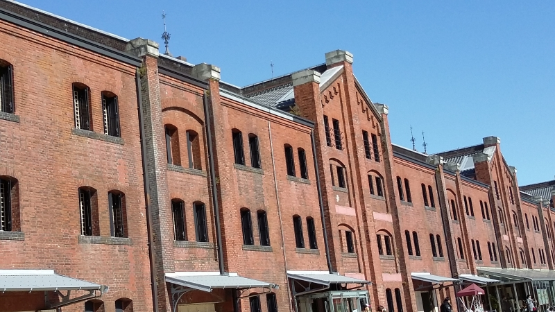 Red Brick Building, previously used as a ware house, but now a modern shopping mall.