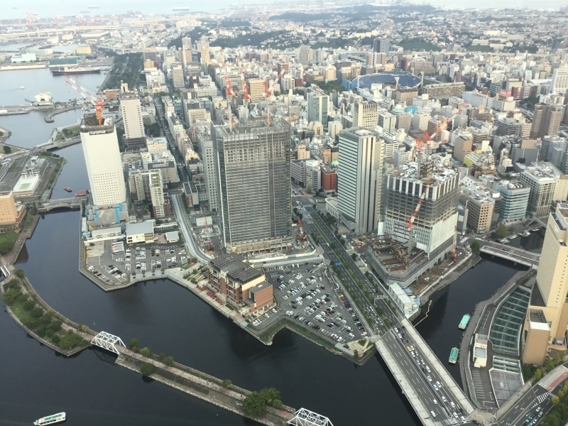View from Landmark Tower, where we can enjoy whole view of Yokohama.