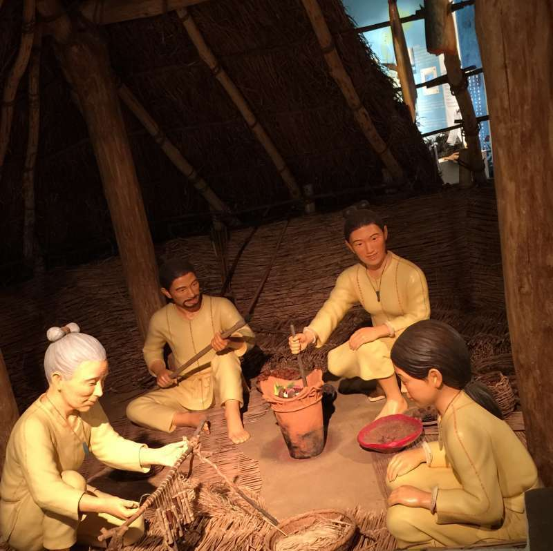 anciet people living in a pit-dwelling