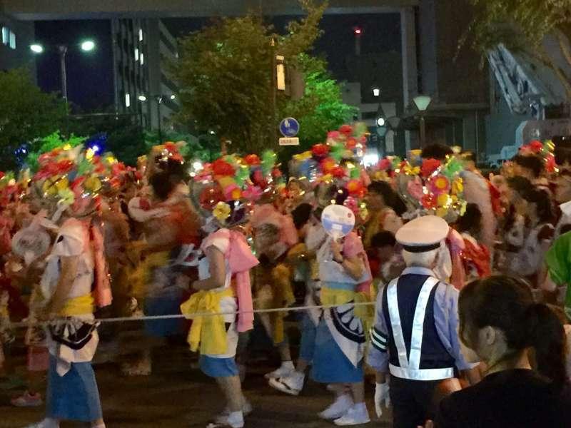 Nebuta dancers in costume