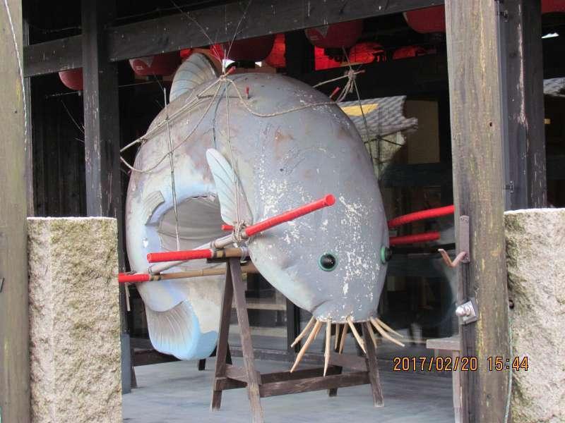 A small eel, (the target Dojyo-sukui dance)