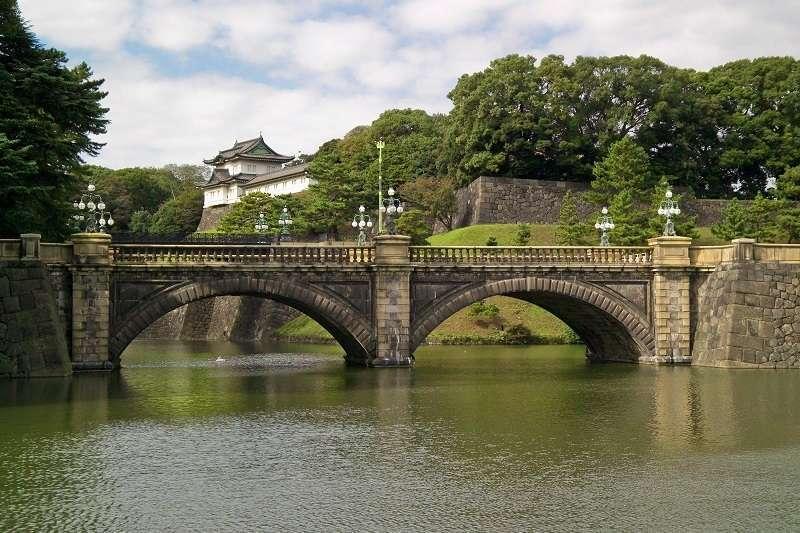 Nijubashi Bridge in Imperial Palace.