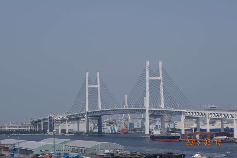 Yokohama Bay Bridge from Harbor view park