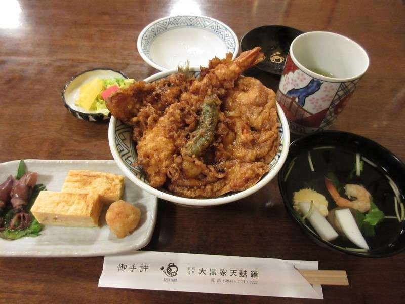 Tendon is rice with tempra.