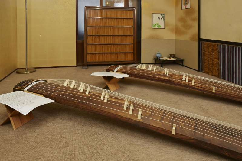 Koto is a traditional Japanese music instrument.