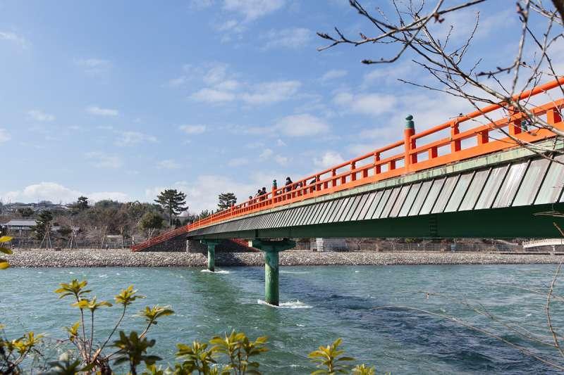 The Uji River and Asagiri-bashi Bridge