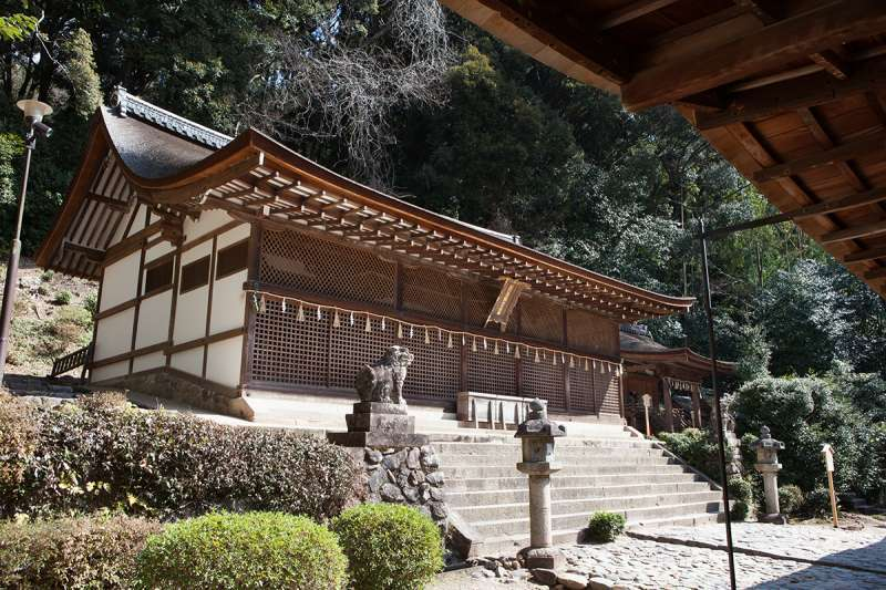The sanctuary of Ujigami Shrine, the oldest wooden shrine structure in Japan