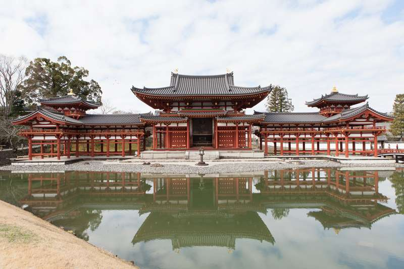 Phoenix Hall of Byodo-in Temple, a World Heritage site in Uji