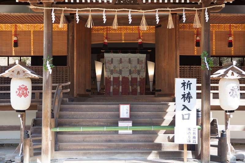 The oratory hall of Ujigami Shrine
