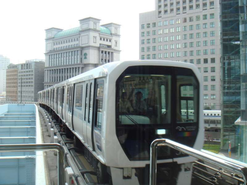 Yurikamome, an automated train line with no drivers.