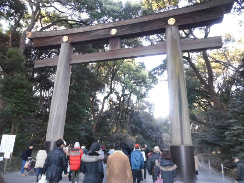 Torii Gate of Meiji Jingu Shrine