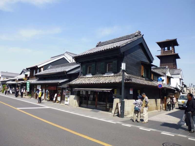 The old shopping street in Kawagoe city