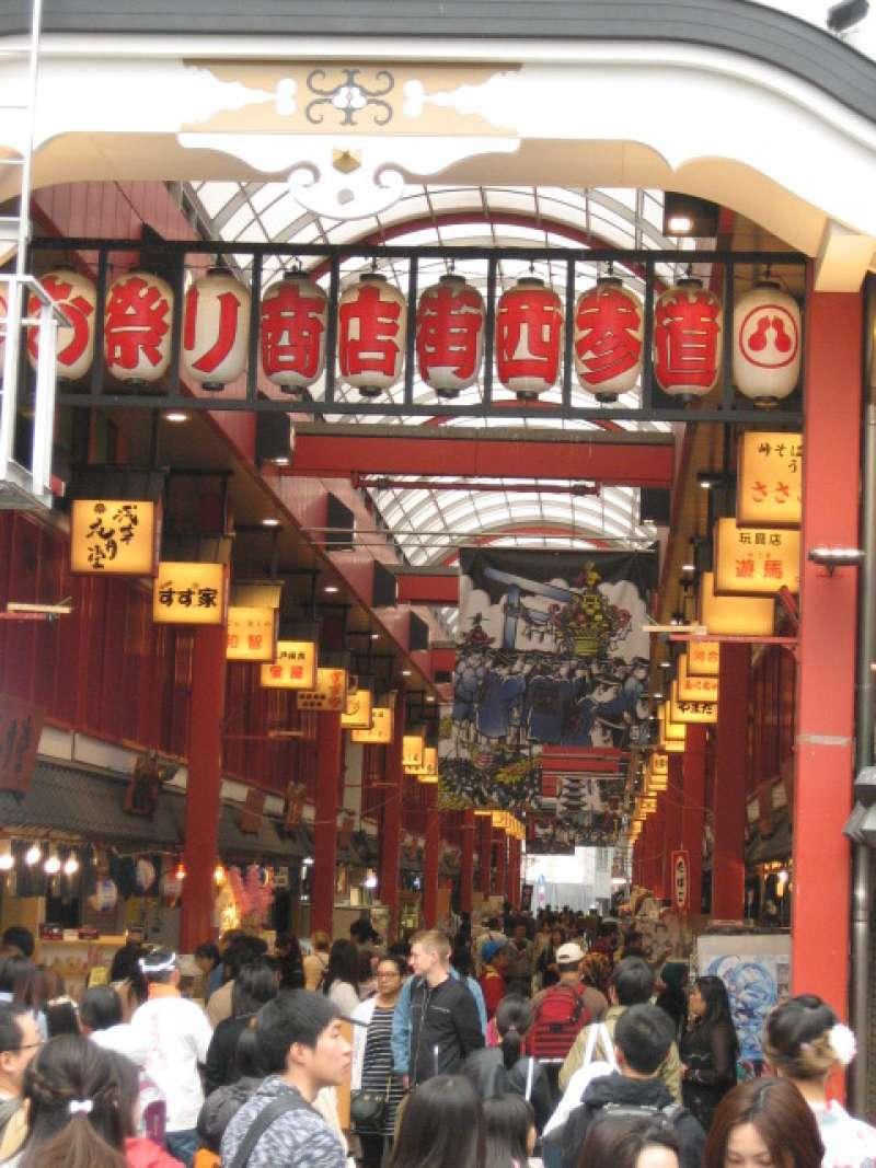 Shopping street at Asakusa