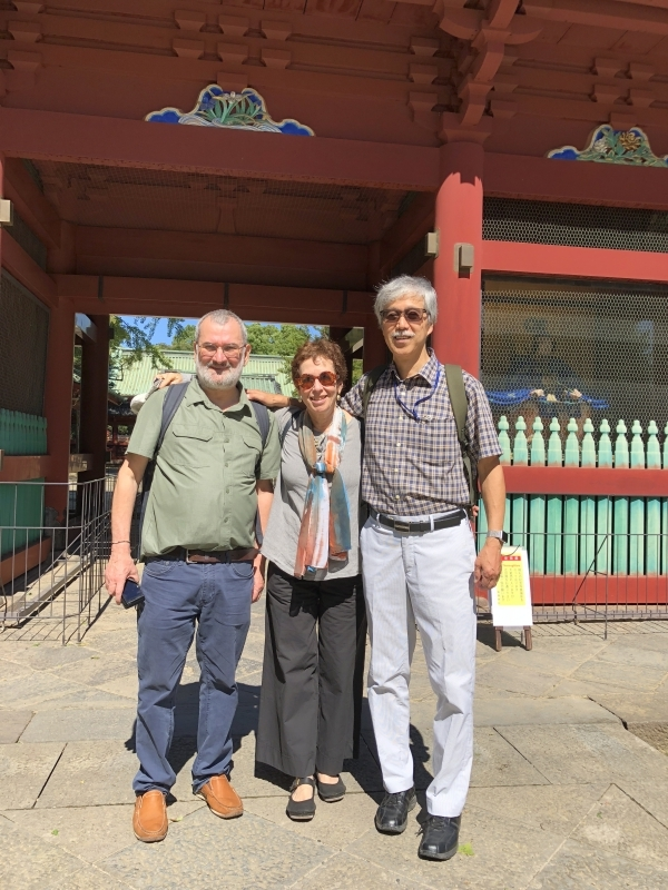 A couple from Italy in Nezu Shrine