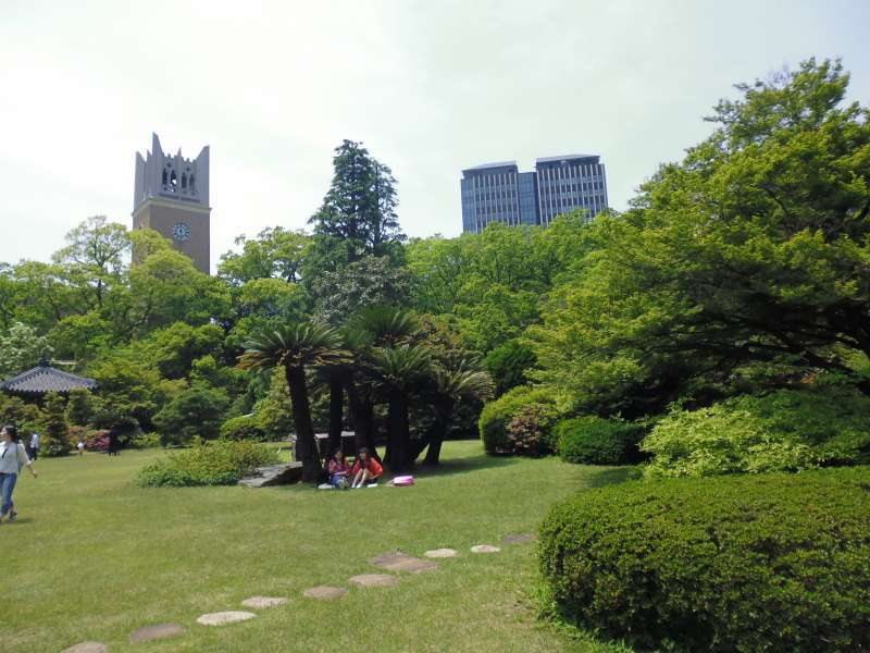 Okuma(the founder of Waseda) garden
