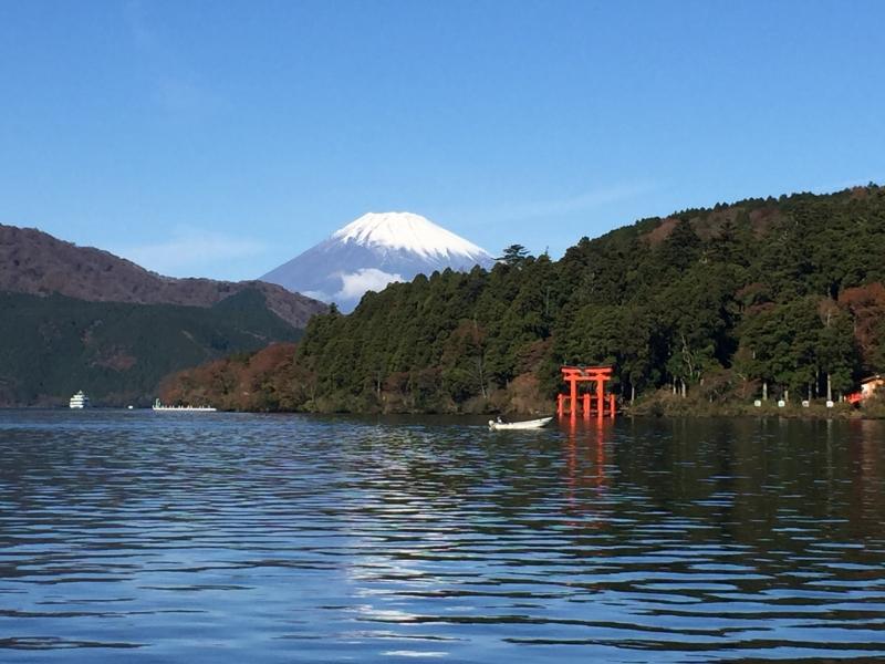 Mt. Fuji view from Lake Ashi