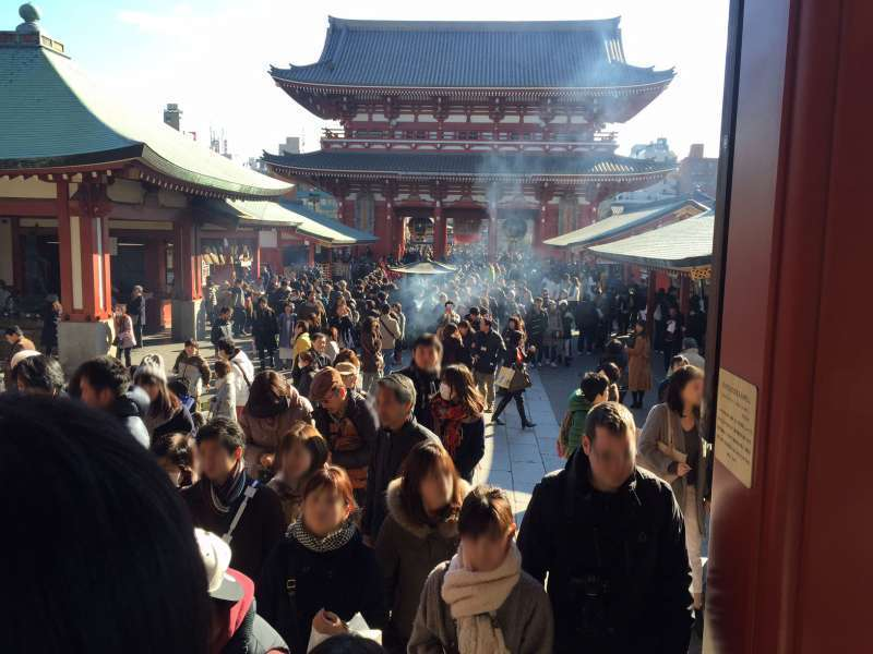 The most popular temple in Tokyo Asakusa