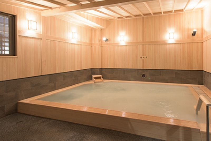 You can enjoy a Onsen, spa.