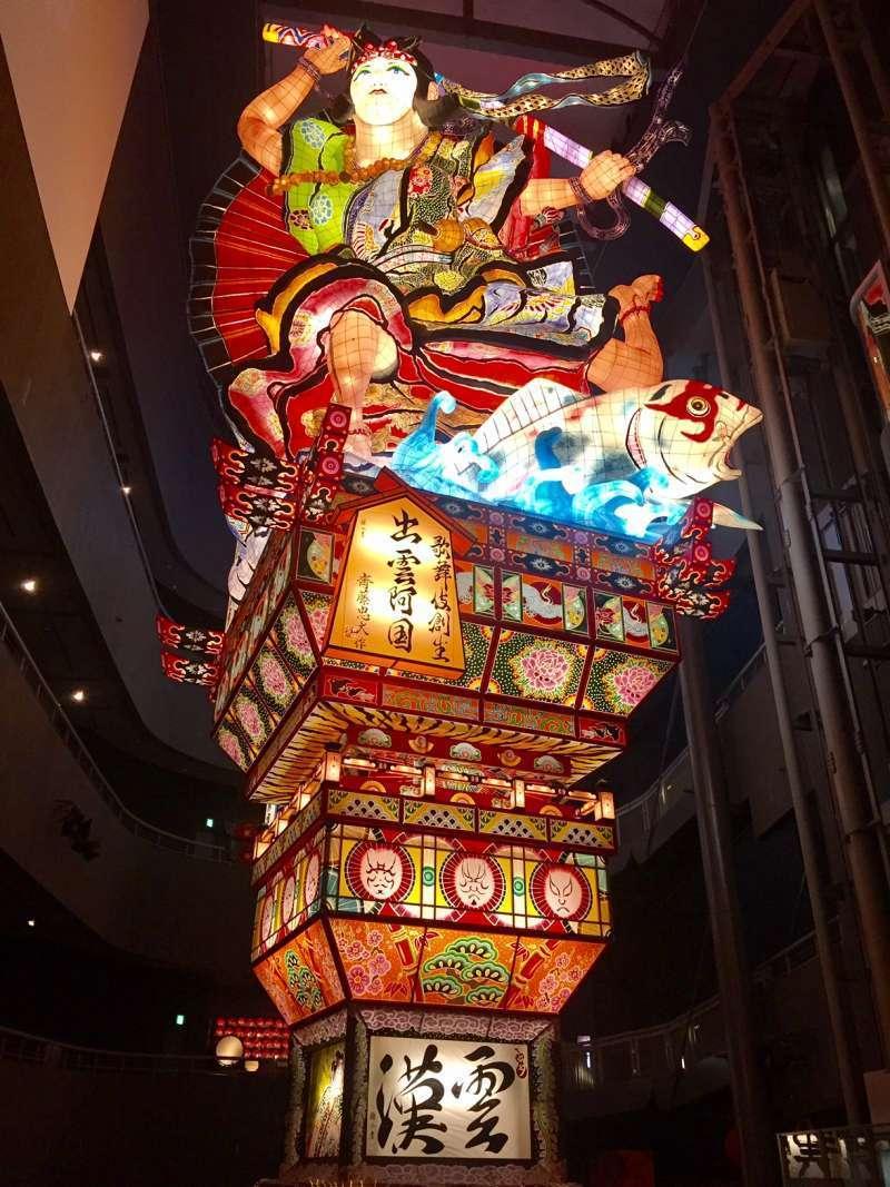 Goshogawara Tachi Neputa Museum with tall lantern floats