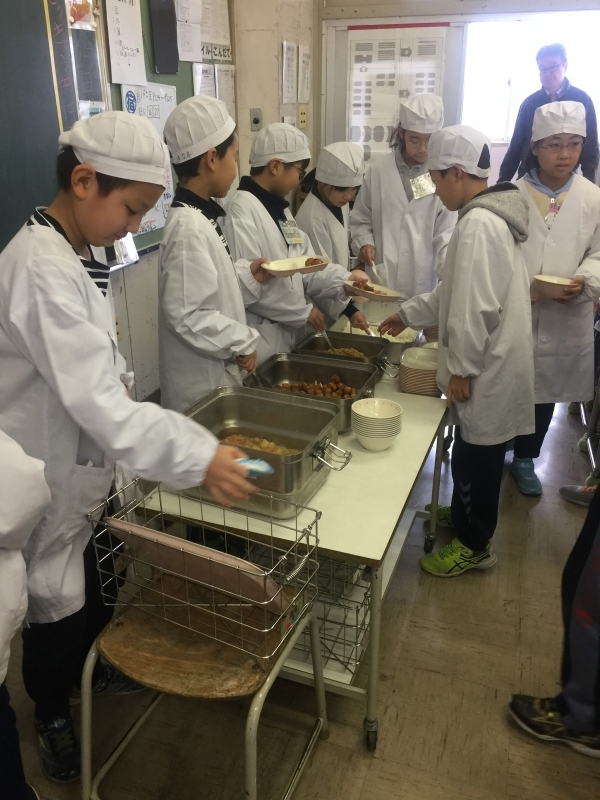 Lunch served by the students in charge