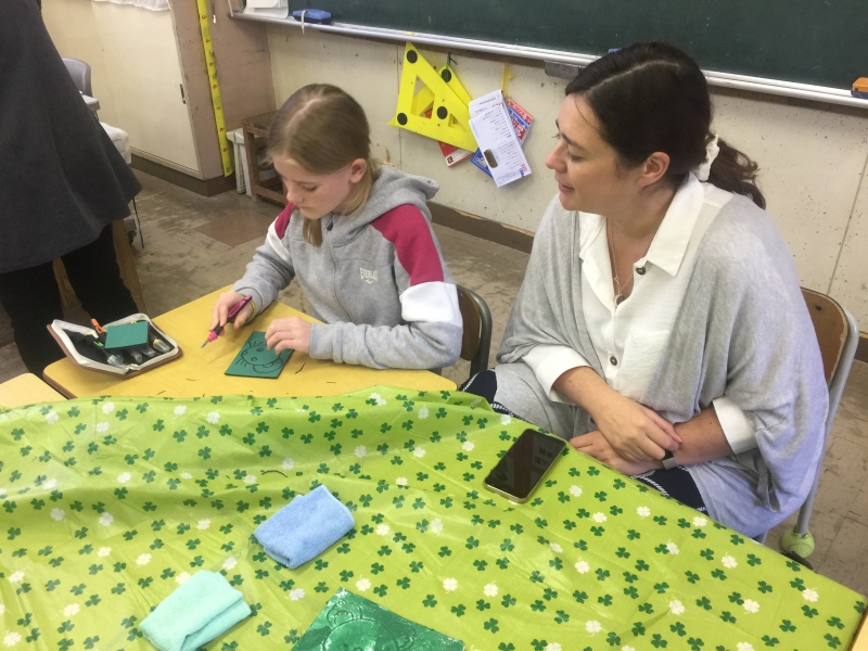 Join an art class with 4th graders