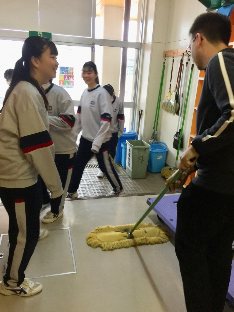 You can try cleaning the school building with students after school