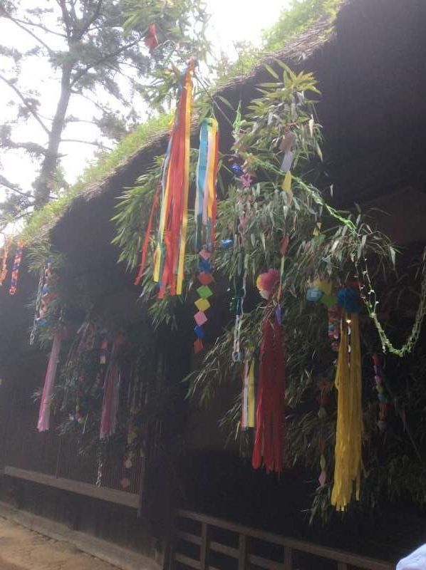 The decoration of Star Festival at old Yanohara house, built in around 1750 and at Shirakawa area, Gifu prefecture.