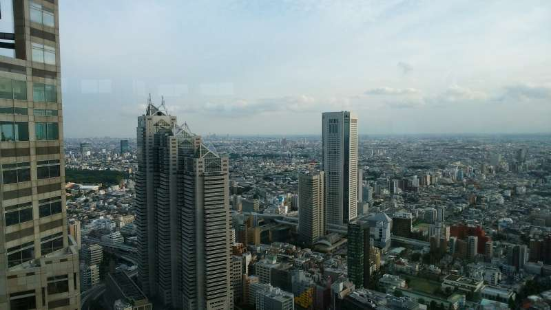 Amazing view of the skyscrapers district Shinjuku
