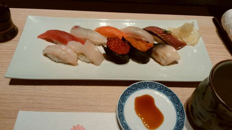 Try a set of sushi and eat like a local!