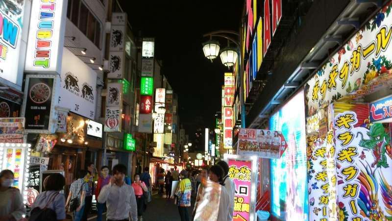 Bright neon light signs in Shinjuku